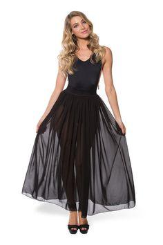 Chiffon Noir Maxi Skirt - LIMITED › Black Milk Clothing