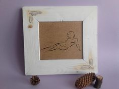 Wood Burning Art, Wood Painting, Nude, Woman Nude, Handmade Art, Pyrography Art, Framed Painting