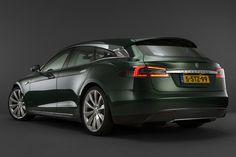 Tesla Model S Transformed Into Stunning Shooting Brake - CarBuzz Green Gloves, Coach Builders, Audi, Bmw, Shooting Brake, Rear Window, Electric Cars, Dream Cars, Nissan