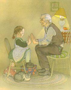 Mother Goose, Vintage Children's Print, Marjorie Torrey Illustration, Pease Porridge Hot