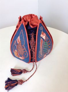 Based on an idea I found on Pinterest Ethnic Bag, Potli Bags, Witch Jewelry, Dice Bag, Fabric Boxes, Lesage, Embroidered Bag, Beaded Bags, Vintage Purses