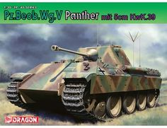 The Dragon 1/35 Pz.Beob.Wg.V Panther with 5cm Kw.K.39/1 from the plastic military model kits range accurately recreates the real life WWII era German tank.