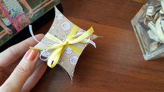 Easy DIY gift box for something small. Подарочная коробочка.