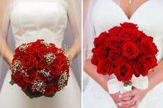 Znalezione obrazy dla zapytania bukiet ślubny z róż