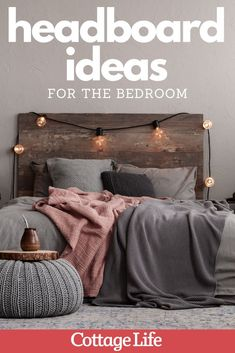 Looking for some bedroom inspiration? Try one of these headboard ideas for your bedroom. #bedroom #design #bedroominspo #bedroomideas #interiordesign #homedesign #homedecor #CottageLife