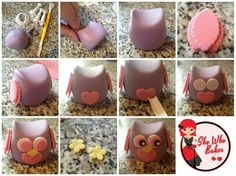 'She Who Bakes' step-by-step owl tutorial...so cute and the cake its off it gorgeous!!♡