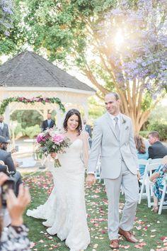 Walking down the aisle, wedding ceremony, Orange County heritage museum wedding