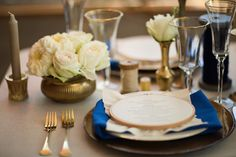 Blue and Gold Wedding Ideas   Blue Wedding Color Combinations   Blue Wedding Ideas   Blue Wedding Colors   Wedding Color Palettes at www.EventDazzle.com
