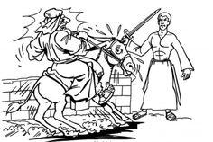 Numbers 22 Balaam's Donkey Sunday School Crossword Puzzles