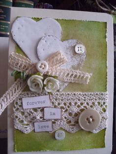forever in love Forever Love, Love Her, Card Making, Lace, Cards, How To Make, Ideas, Decor, Decoration