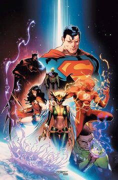 This June, Justice League is relaunching, which means there's another roster change in store for DC Comics' foremost superhero team. The good news: If you loved the Justice League animated series, then the setup is rather familiar. New Justice League, Justice League Comics, Dc Comics Heroes, Dc Comics Characters, Justice League Unlimited, Arte Dc Comics, Sicily Beach, Cover Art, Univers Dc