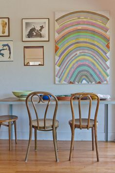 bentwood chairs, please!  from apartment therapy's tour of beatrice valenzuela's home