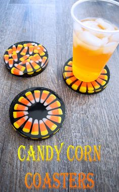 Resin Crafts Discover Cast Candy Corn in Resin to make adorable Halloween Coasters Create adorable Halloween Coasters with this popular seasonal candy! Cast Candy Corn in resin to make coasters perfect for any Halloween occasion. Diy Resin Art, Diy Resin Crafts, Diy Crafts To Sell, Diy Crafts For Kids, Epoxy Resin Art, Selling Crafts, Diy Resin Coasters, How To Make Coasters, Candy Corn