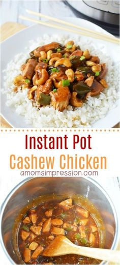 Looking for a nice take-out version of Cashew Chicken you can make in your Instant Pot or pressure cooker? This easy Instant Pot Cashew Chicken recipe is healthy and tasty and much better than the take-out we all love!