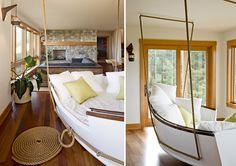 Imágenes de interiorismo en una casa de tres plantas en la playa