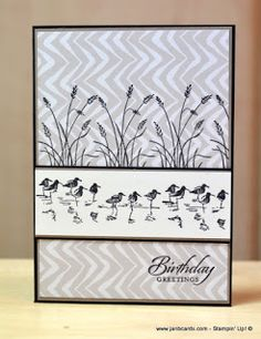 handmade card from JanB Handmade Cards Atelier l... Wetlands ... stamping on patterned paper ... Stampin' Up!