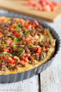Savory Italian Tart The recipe calls for Italian sausage. I would use Jimmy Dean's Hot Sausage meat.