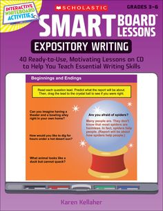 SMART Board™ Lessons: Expository Writing | Engaging, interactive SMART Board lessons teach students how to write effective expository essays!