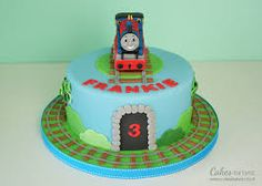 easy thomas the tank cake - Google Search