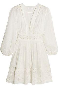 Zimmermann  Realm Lace-Trimmed mini dress