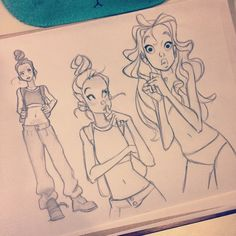 Pinup Arena • anna-cattish: #sketching #girls