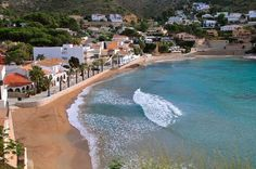 Beach El Portet, Nice sand beach with litte boulevard and some restaurants. Situated in a lovely and pitoresque bay.