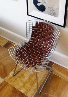 How To DIY the Leather Bertoia Chair Hack from Darlene & Brian's House Tour   Apartment Therapy Tutorials