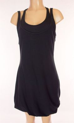LULULEMON Twisted Dress Size L Large 12 Black Reversible Tunic #Lululemon #SkirtsSkortsDresses