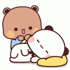 Cute Bear Drawings, Cute Cartoon Drawings, Cartoon Gifs, Cute Cartoon Wallpapers, Cute Love Pictures, Cute Love Memes, Cute Love Gif, Cute Images, Cute Bunny Cartoon