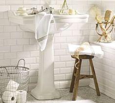 Pedestal Single Sink Console #Pottery Barn