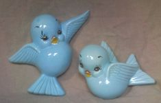 Vintage Blue Bird Bluebird of Happiness Wall by HydrangeaCreations.