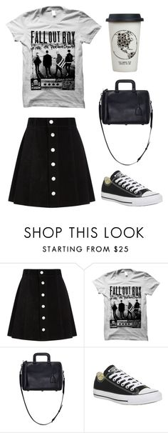 """""""Good Music and Good Coffee"""" by mihaliakt1 on Polyvore featuring AG Adriano Goldschmied, 3.1 Phillip Lim, Converse and Natural Life"""