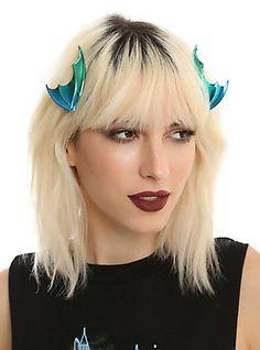 Blackheart Anodized Metallic Dragon Wing Hair Clip Set,