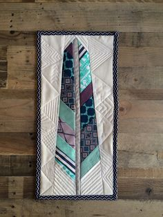 Modern Quilted feather wall hanging by TheTeaRex on Etsy, $95.00