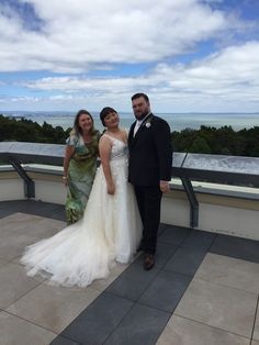 Rooftop ceremony overlooking Auckland's west - breathtaking views and a little slice of paradise! W&P just married by Mel Stuart, Celebrant 💫 Tie Knots, Just Married, Auckland, Celebrity Weddings, Rooftop, Big Day, The Past, Paradise, Marriage
