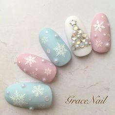 Love the idea of pastel Christmas nails                                                                                                                                                      More