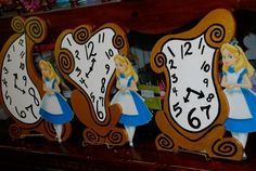 Grandfather clock prop for wonderland party | Wonderland theme clocks designed and created by : Wonderland Party ...