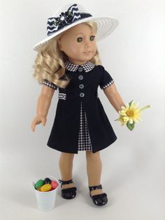 American Girl 18-inch Doll Clothes 1960's Style Dress - I would love this in another color!