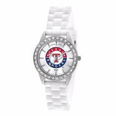 Texas Rangers Ladies White Fashion Watch