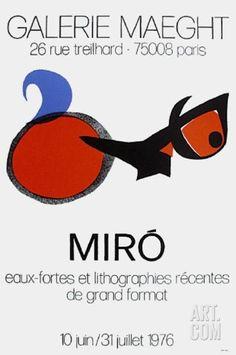 Art.fr - Reproduction pour collectionneurs 'Expo 76 - Galerie Maeght' par Joan Miró