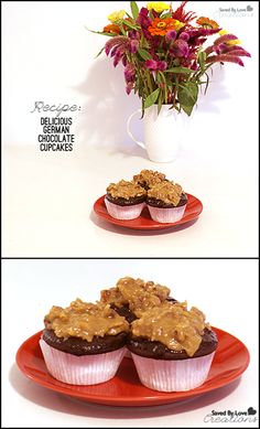 How to Make German Chocolate Cupcakes @savedbyloves
