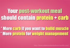 4:1 ratio ideally of carbs to protein for muscle growth/recovery :-)