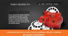 Work page Fusion Studios View Master, Studios, Engineering, Entertaining, Website, Fun, Design, Technology