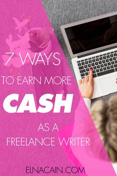 Learn seven ways to earn more cash as a freelance writer. I'm a mom to twin toddlers and I run a successful freelance writing business. Click here to find out more!