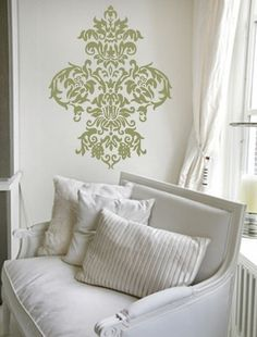Perfect!! The designer didn't over do a good thing.. Damask at it's finest! Frame it!!