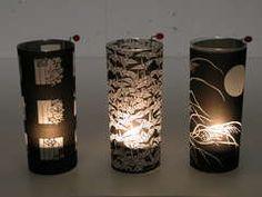 Drinking glass tea lights