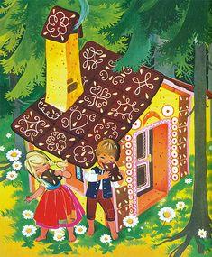 Mehrfach illustrierte die Illustratorin Felicitas Kuhn das Märchen Hänsel und Gretel. Dabei ist unklar, in welcher chronologischen Reihenfolge die Illustrationen als Einzelausgaben bzw. innerhalb verschiedener Sammelbände erschienen. Hansel Y Gretel, Kids Story Books, Fairytale Art, Children's Book Illustration, Beautiful Children, Sketchbook Inspiration, Illustrators, Fantasy Art, Book Art