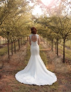 Such a pretty picture and the back of this dress is amazing!