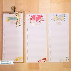 Stampin 'Up!  - Projektset Calendar Art - Perpetual Birthday Calendar - Project Life every day - Birthday Calendar ❤ stamp meadow