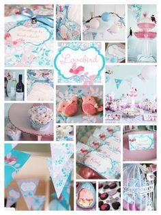 Lovebird Tweet Bird Birthday Party Invitation Collection